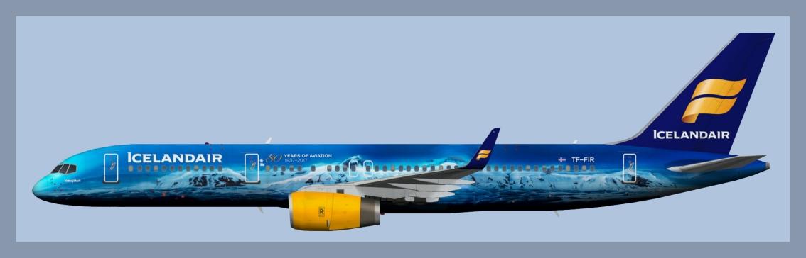 Icelandair Boeing 757-200 TF-FIRVatnajökull