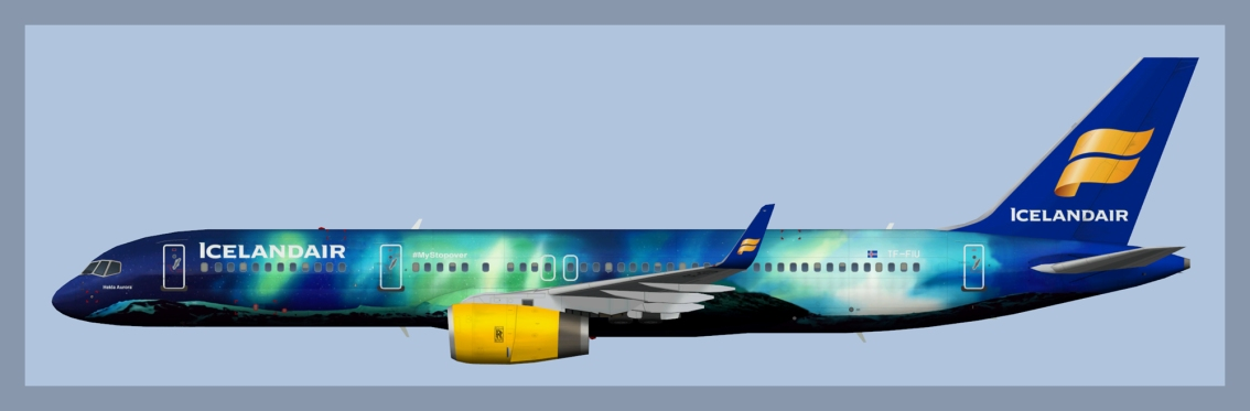 Icelandair Boeing 757-200 TF-FIU HeklaAurora