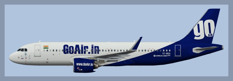 GoAir Airbus A320NEO – ATCO Repaints