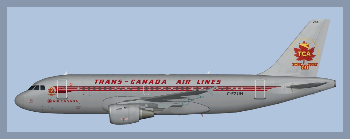 Air Canada Airbus A319 Fleet