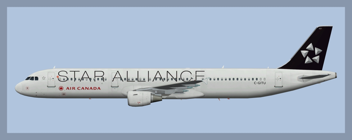 Air Canada Airbus A321 C-GITU Star Alliance
