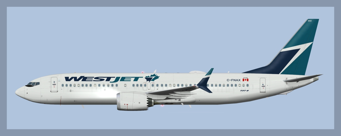 Westjet Boeing 737-MAX8