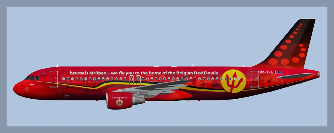 Brussels Airlines Airbus A320 OO-SNA Red Devils