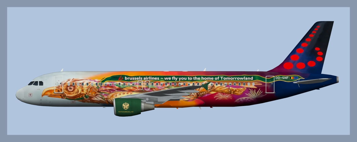 Brussels Airlines Airbus A320 OO-SNF Tomorrowland