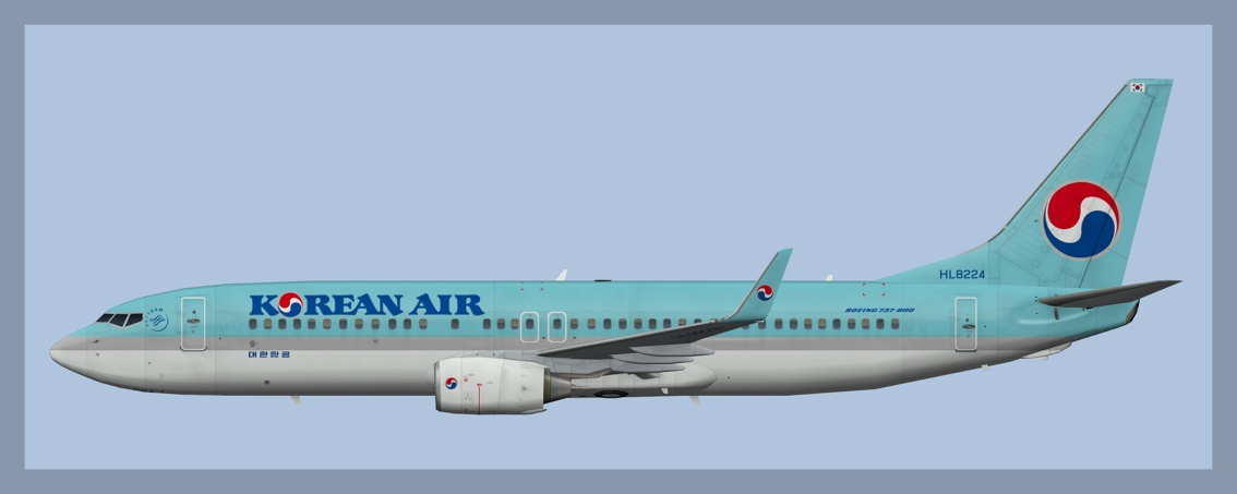 Korean Air Boeing 737-800 Fleet