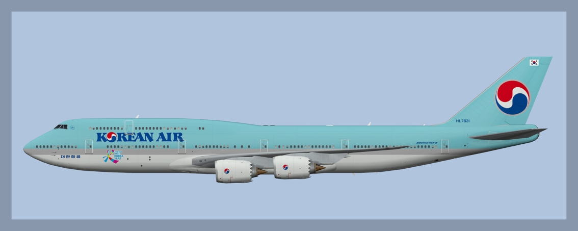 Korean Air Boeing 747-8 Fleet