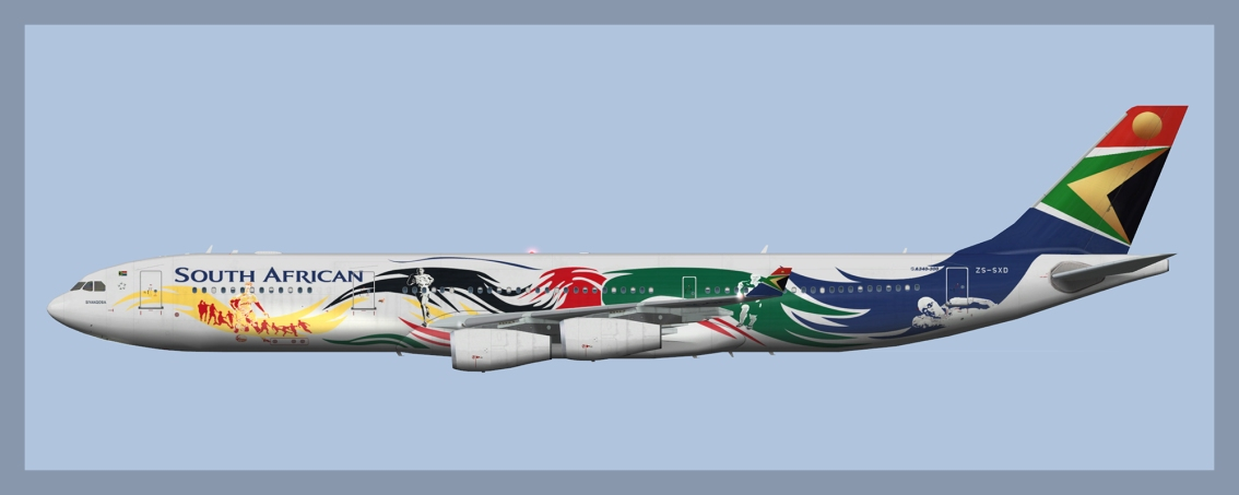 South African Airbus A340-300 ZS-SXD