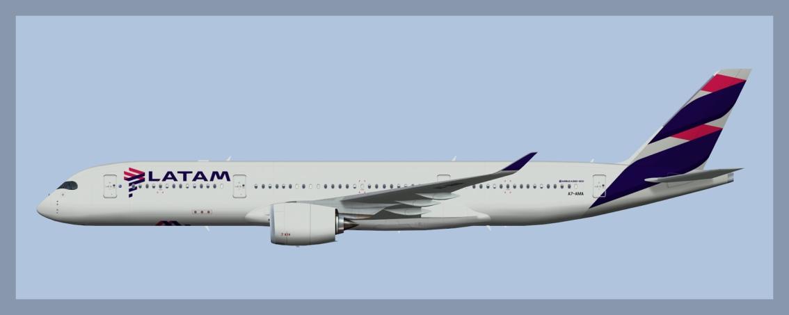 Qatar Airways Airbus A350-900 lsf LATAMBrasil