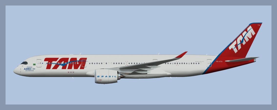 LATAM Brasil Airbus A350-900Fleet