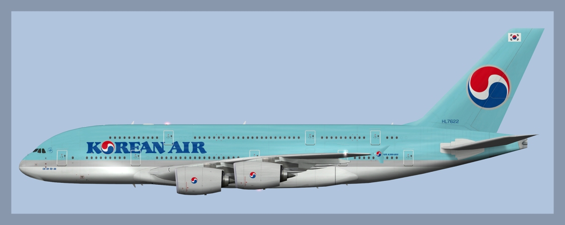Korean Air Airbus A380-800 – ATCO Repaints