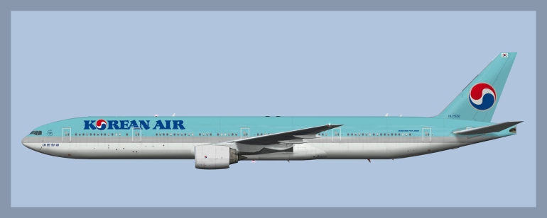Korean Air Boeing 777-300 – ATCO Repaints