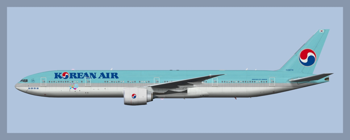 Korean Air Boeing 777-300ER Fleet