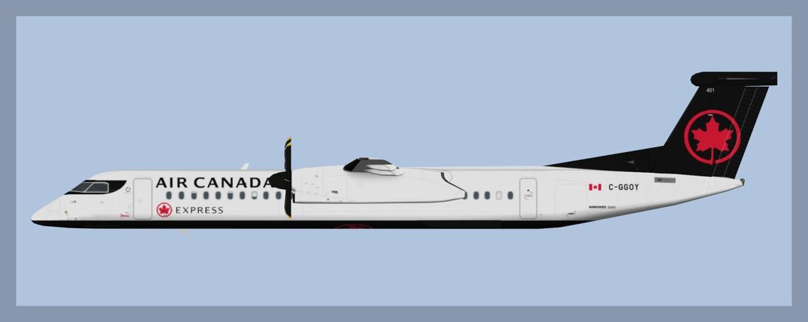 Air Canada Express Bombardier Dash8-Q400 NC2017