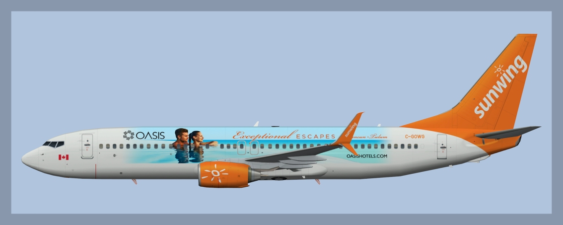 Sunwing Boeing 737-800 Logojets Fleet Winter 2017/18