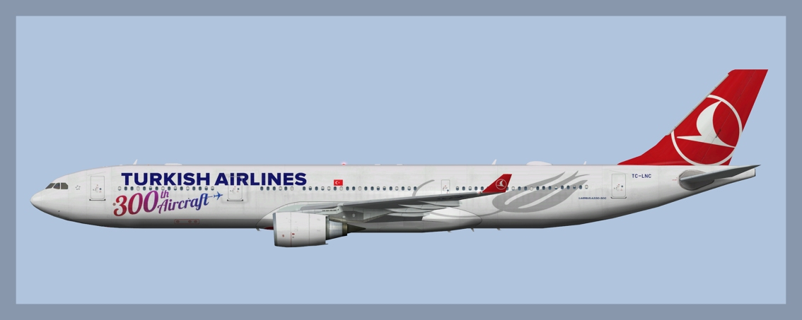 Turkish Airlines Airbus A330-300 Fleet