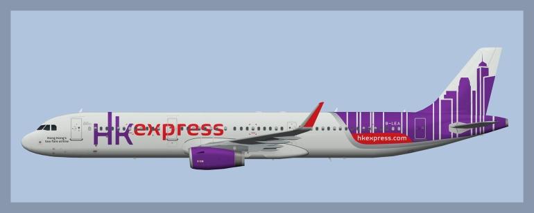 Hong Kong Express Airbus A321 Fleet – ATCO Repaints