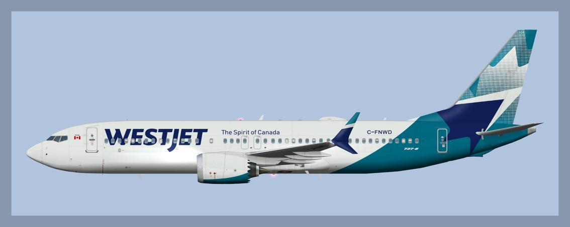 Westjet Boeing 737-MAX8 NC2018