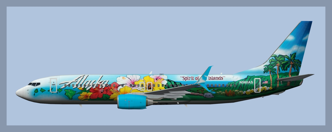 Alaska Airlines Boeing 737-800 N560AS 'Spirit of the Islands'