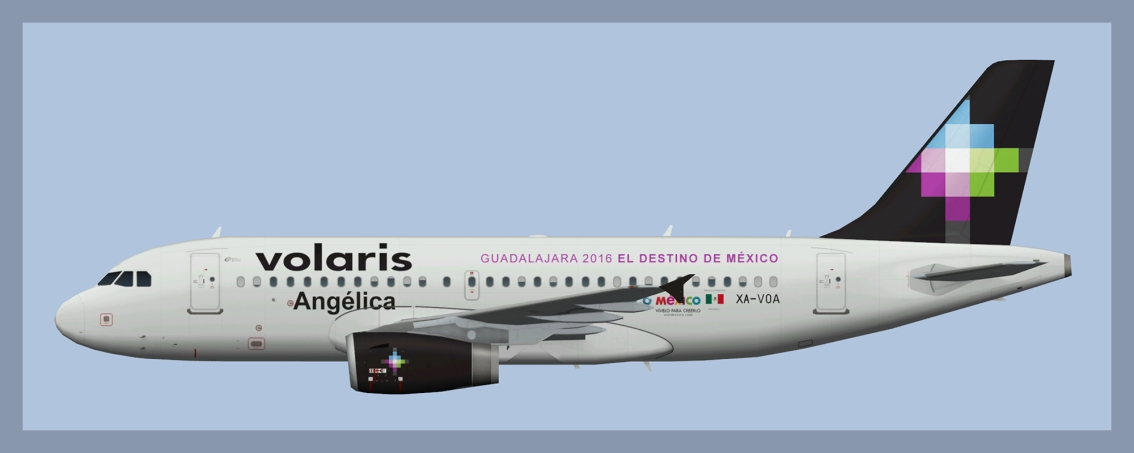 Volaris Airbus A319 Missing Paints