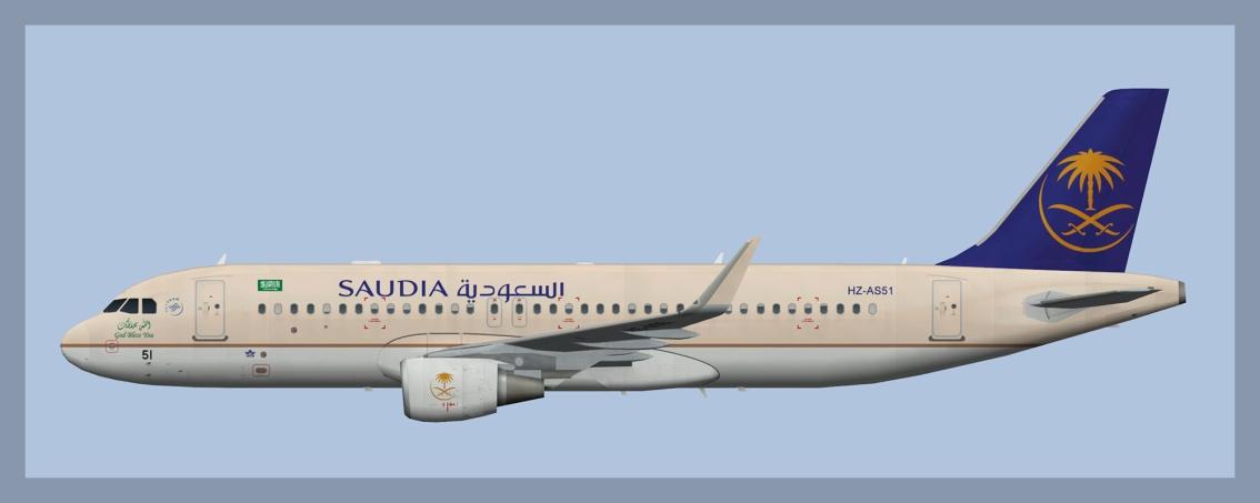 Saudia Airbus A320Sharklets