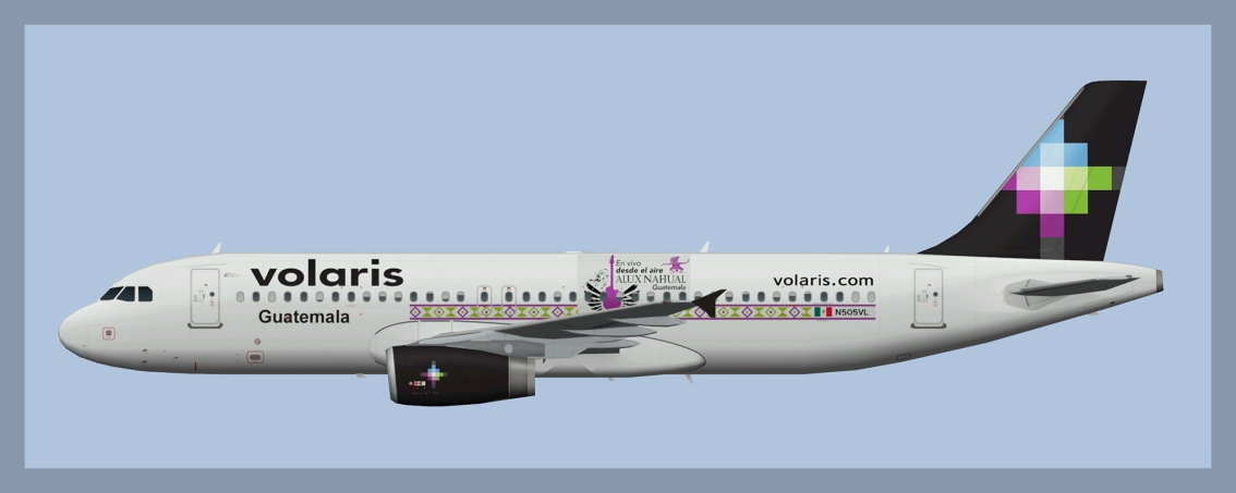 Volaris Airbus A320 Missing Paints