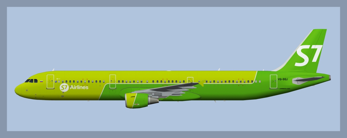 S7 Airlines Airbus A321 NC Fleet
