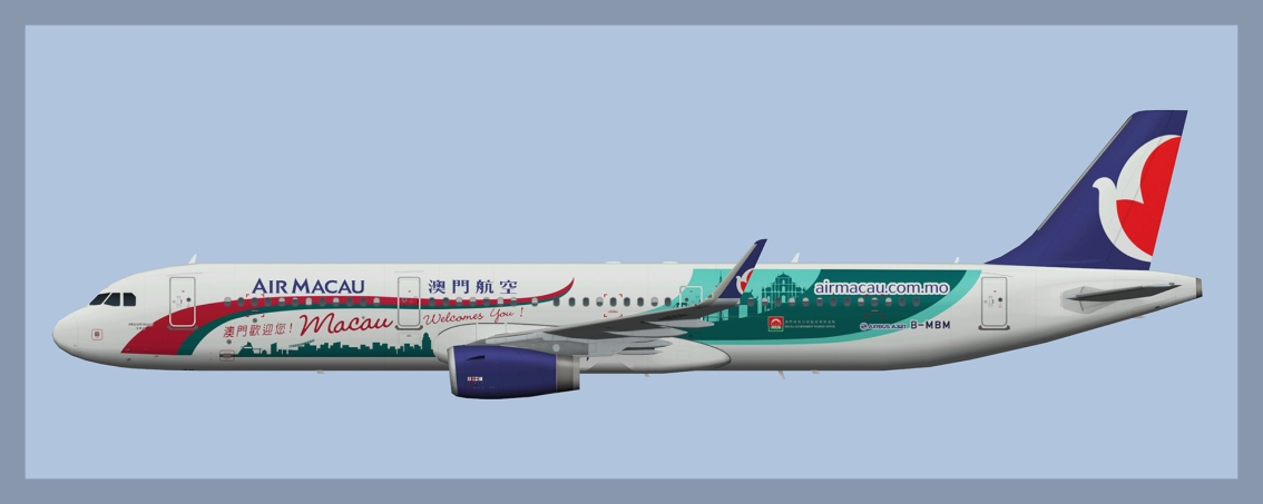 Air Macau Airbus A321 Fleet