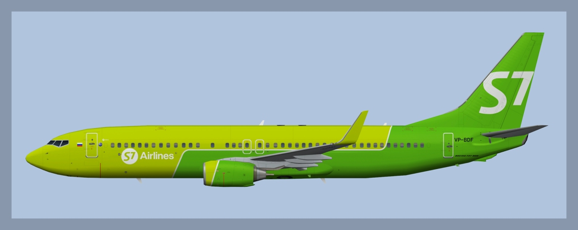 S7 Airlines Boeing 737-800 NC Fleet