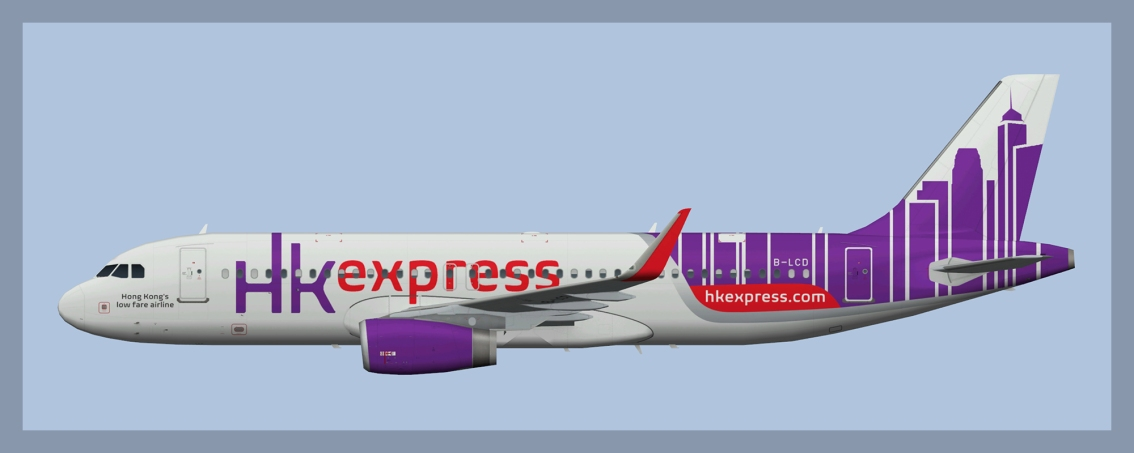 HK Express Airbus A320 Fleet