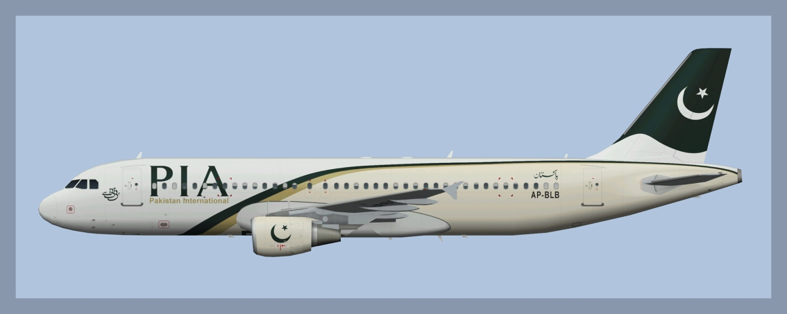 PIA Pakistan International Airbus A320 OC