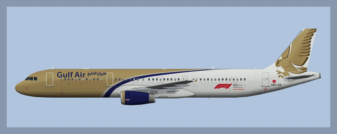 Gulf Air Airbus A321 Fleet 2018
