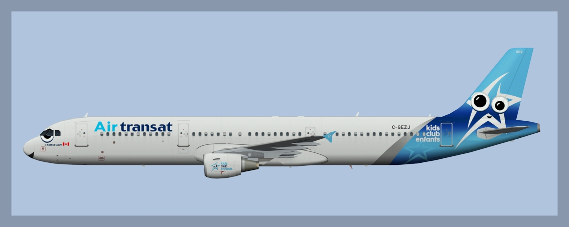 Air Transat Airbus A321 Fleet 2018
