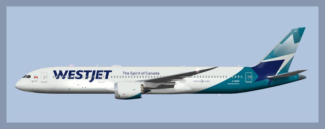 Westjet Boeing 787-9C-GUDH