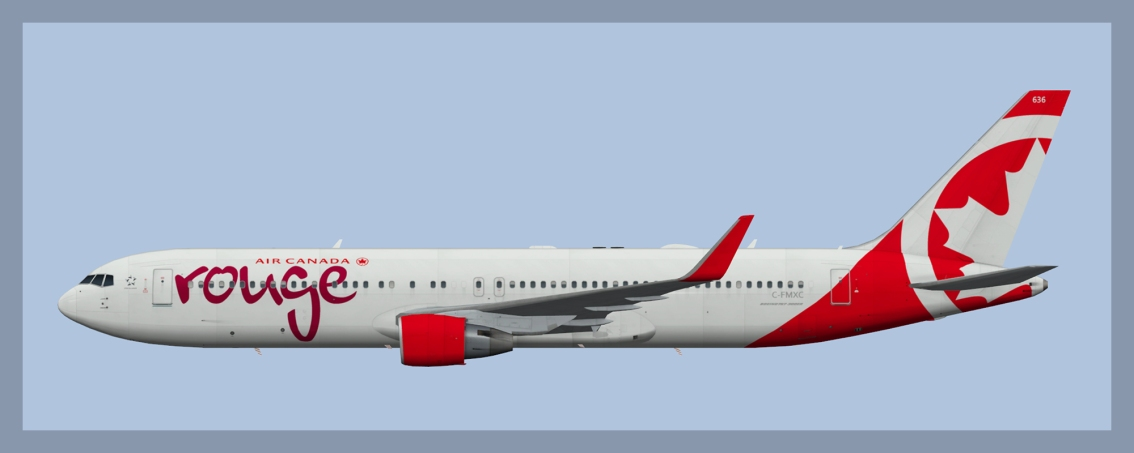 Air Canada Rouge Boeing 767-300 Fleet 2019