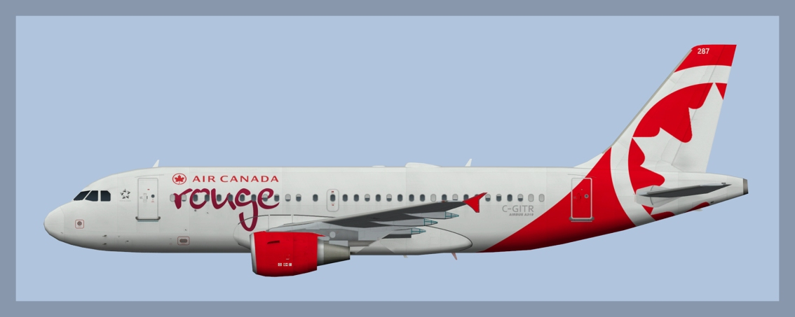Air Canada Rouge Airbus A319 Fleet 2019