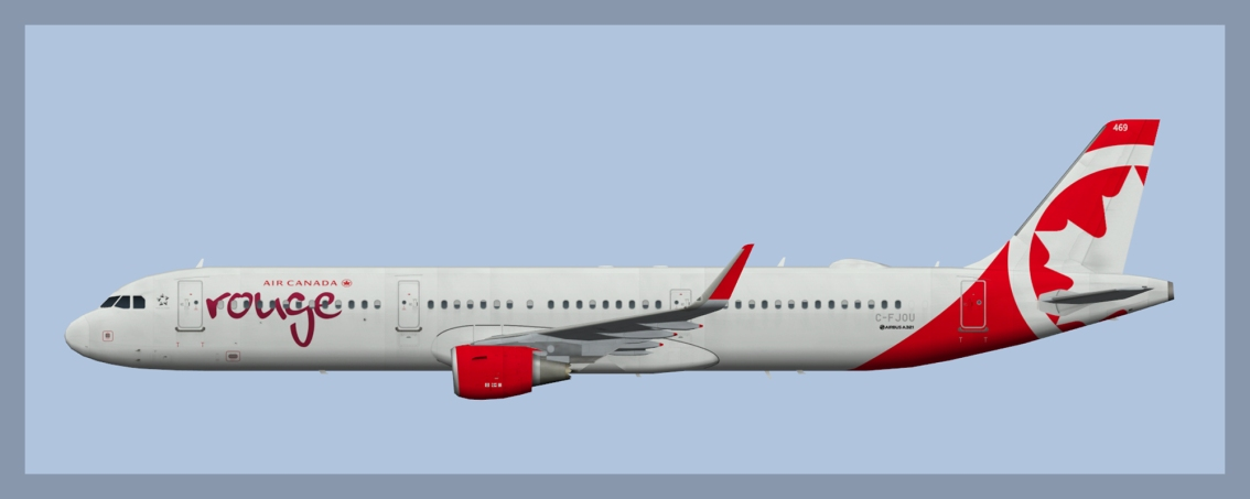 Air Canada Rouge Airbus A321 Fleet 2019