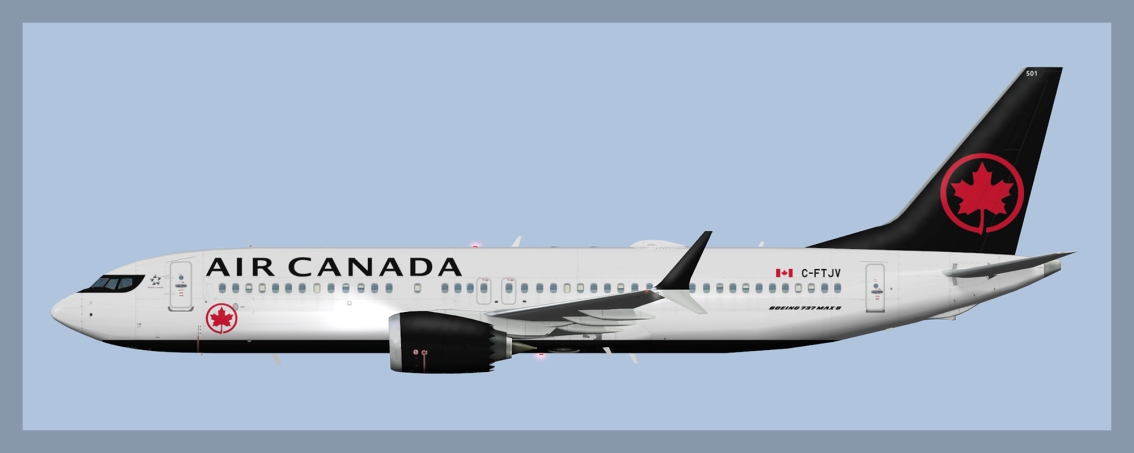 Air Canada Boeing 737-MAX8 Fleet 2019