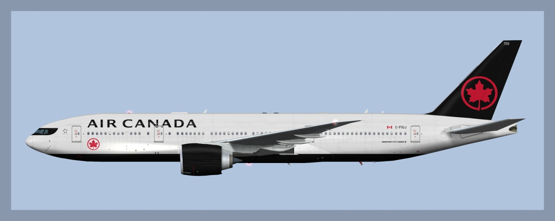 Air Canada Boeing 777-200LR Fleet 2019