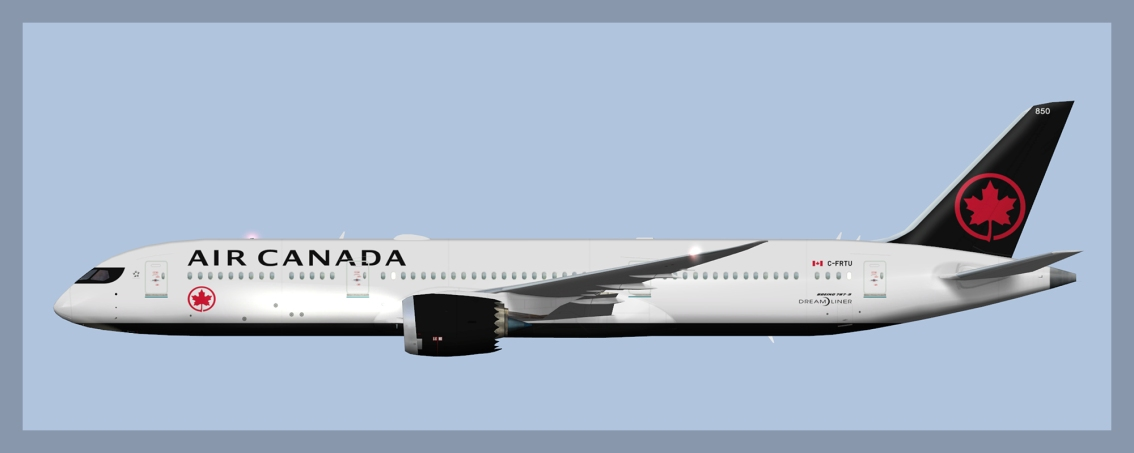 Air Canada Boeing 787-9 Fleet 2019