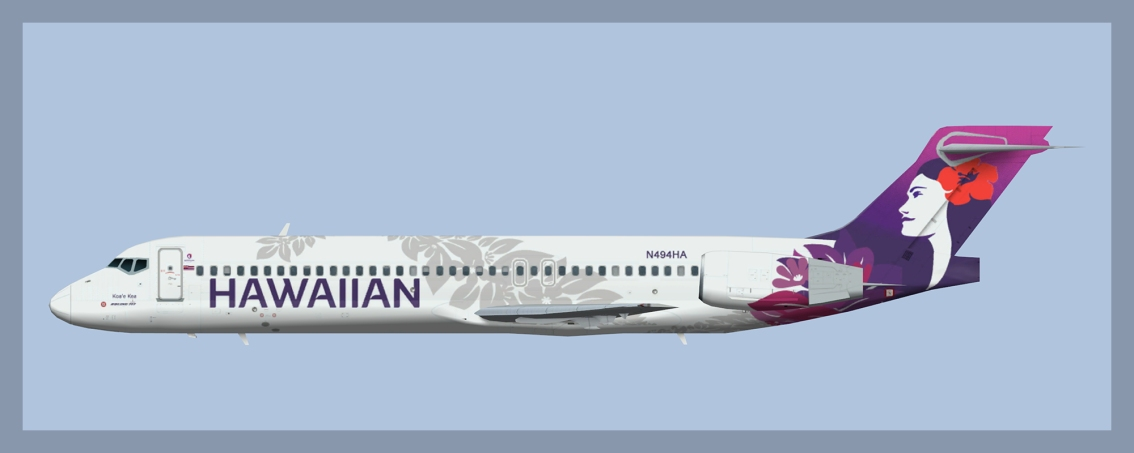 Hawaiian Airlines Boeing 717-200 NC – No Eyebrow Windows