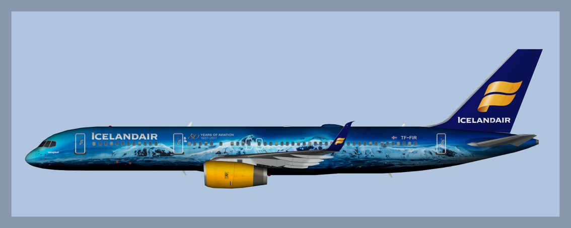 Icelandair Boeing 757-200 TF-FIU and TF-FIR – P3DV4 Only