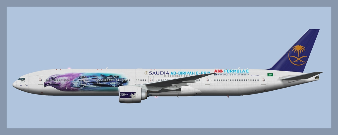 Saudia Boeing 777-300ER HZ-AK43 Formula E GrandPrix