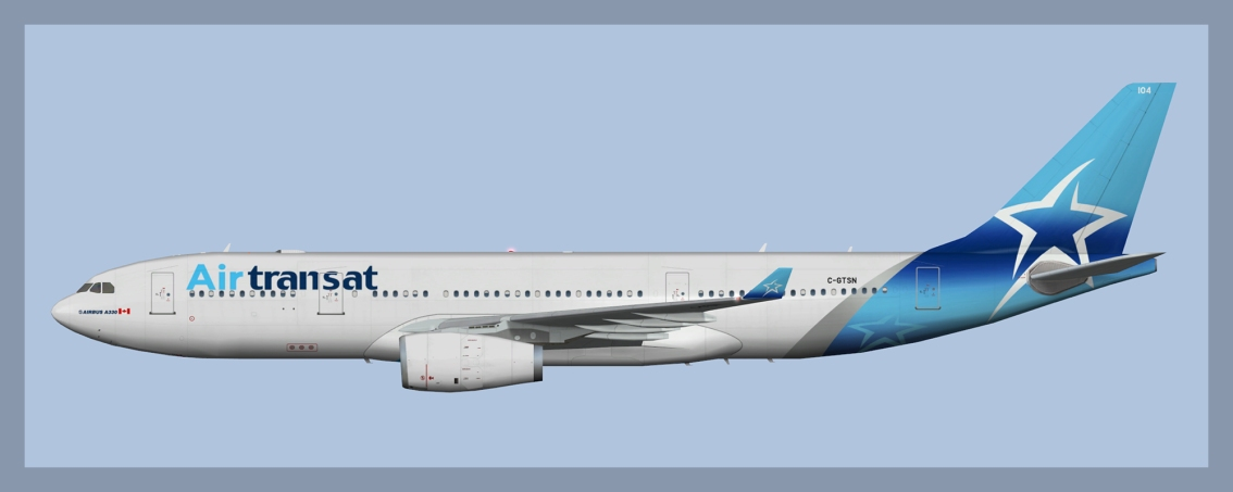Air Transat Airbus A330-200 Fleet 2019
