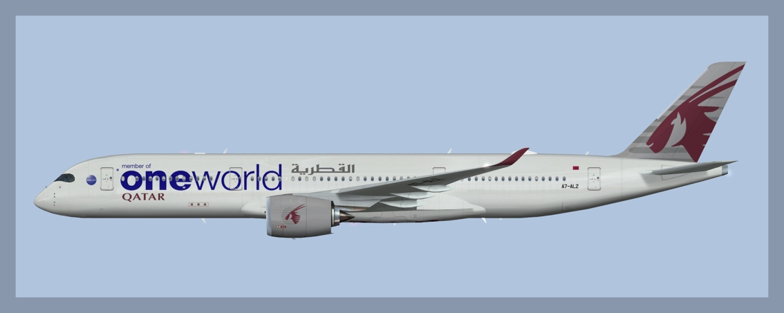 Qatar Airways Airbus A350-900 Oneworld