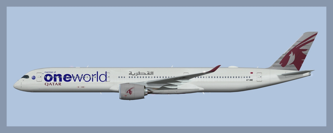 Qatar Airways Airbus A350-1000 Oneworld