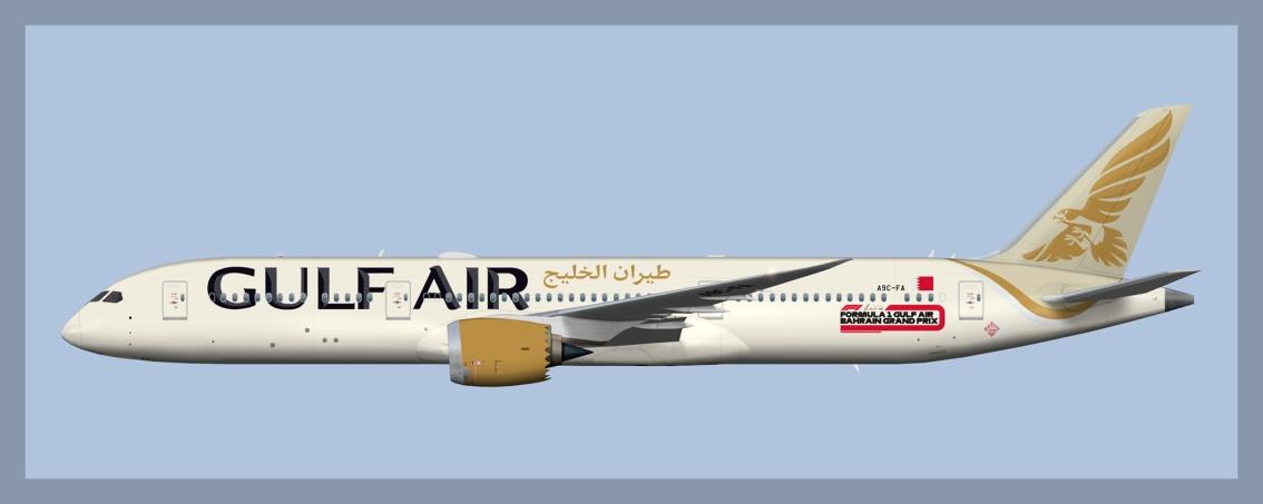Gulf Air Boeing 787-92019