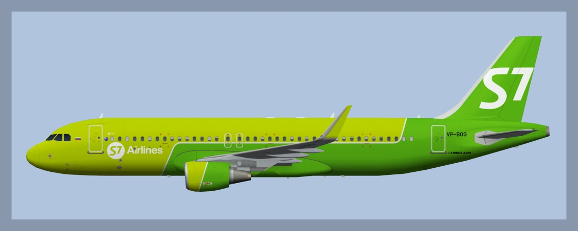 S7 Airlines Airbus A320 NC Sharklets