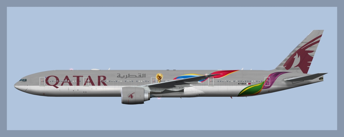 Qatar Airways Boeing 777-300ER A7-BAX FIFA World Cup