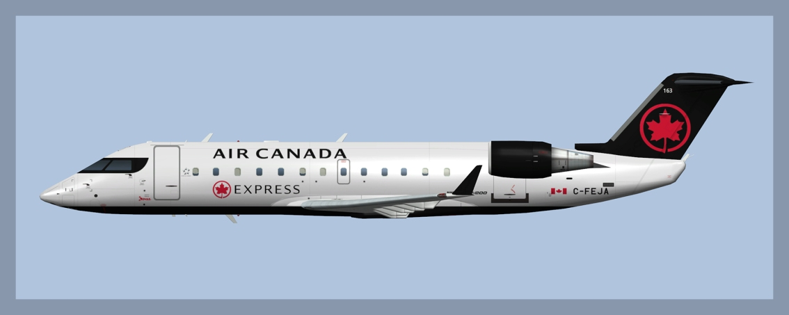 Air Canada Express Bombardier CRJ100/200 Fleet 2019