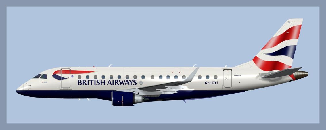 BA Cityfler Embraer E170 OCCrest